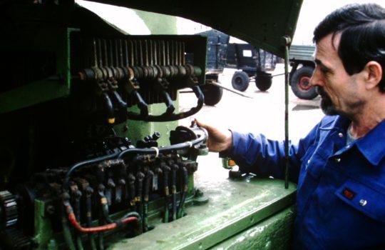 Robuste Technik: Blick in das Getriebe der Elektrowagen.  Foto: privat