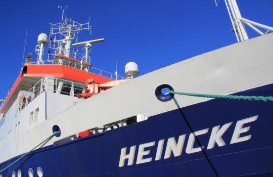 Fährt mit Rußfilter und Abgasreinigung: das Forschungsschiff MS Heincke. Foto: AWI
