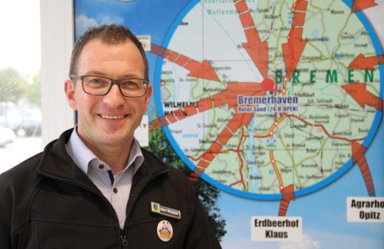 Reduziert Emissionen durch Waren von regionalen Anbietern: Supermarkt-Inhaber Jens Knauer.