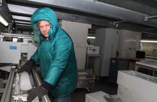 Lebt für die Eisforschung: der Glaziologe Dr. Frank Wilhelms.