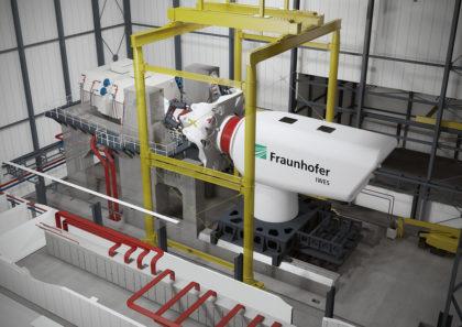 Im Einsatz: Eine Windenergieanlagengondel wird im DyNaLab getestet.
