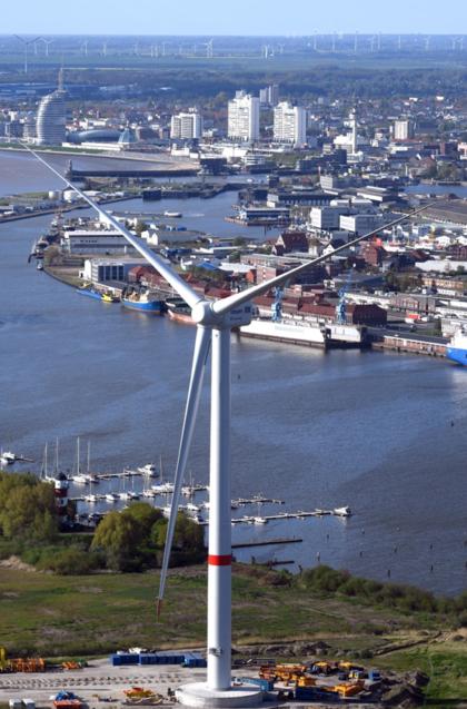 Windenergieanlage in Bremerhaven
