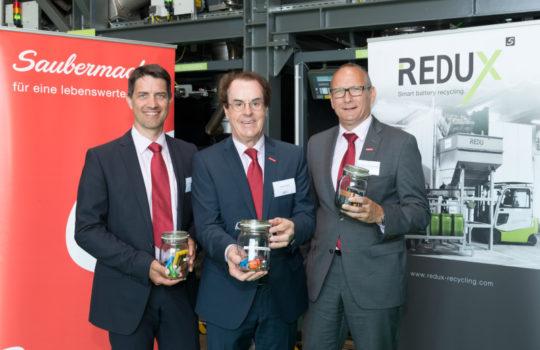 Ralf Mittermayr, CMO und Sprecher des Vorstandes Saubermacher, Hans Roth, Vorsitzender des Aufsichtsrates und Eigentümer, Gerhard Ziehenberger, COO (v.l.n.r.)