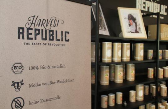 100 Prozent Bio für den Schutz der Natur und für die Gesundheit: das Protein-Pulver Harvest Republic.
