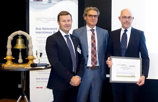 Die Übergabe des greenports Award für die umweltfreundlichste Flotte