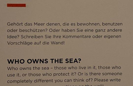 Die Ausstellung SEA CHANGES bietet Möglichkeiten zum interaktiven Austausch.
