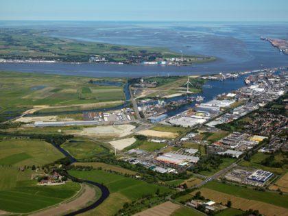 """Bremerhavens nachhaltiges Gewerbegebiet """"Lune Delta"""" Quelle: BIS"""