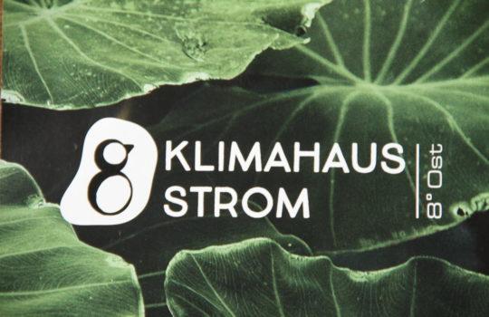 Eingängiges Logo: Strom in Verbindung mit dem Klimahaus. Foto: Helmut Stapel