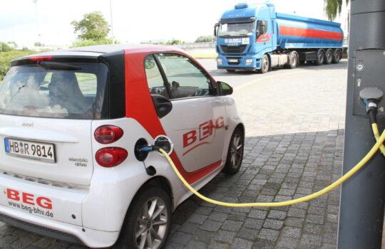 Versorgt sogar die eigenen Autos der Entsorgungsbetriebe mit grünem Strom: die Zentralkläranlage. Foto: Helmut Stapel