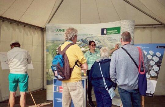 Die BIS informierte über das nachhaltige indsutrie- und Gewerbegebiet Lune Delta