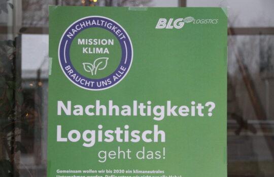 Macht das Thema Nachhaltigkeit zur Firmenphilosophie: BLG Logistics. Foto: Helmut Stapel