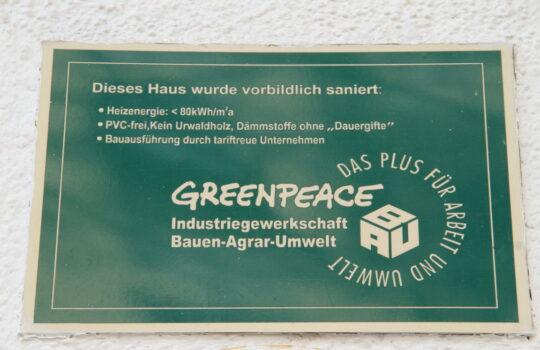 """Schon vor 20 Jahren das Ziel für energetische Sanierung: ein Haus in der """"Alten Bürger"""". Foto: Helmut Stapel"""